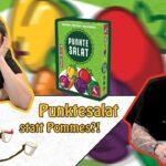 Salat statt Pommes? Funfairist und Kaddy spielen eine Runde Punktesalat von Pegasus Spiele!